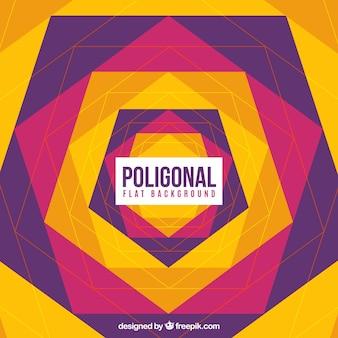 Abstracte achtergrond van gekleurde zeshoeken