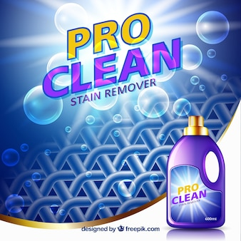 Abstracte achtergrond van stof en bubbels met detergent