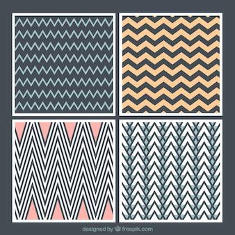 Abstracte achtergronden met zigzag lijnen