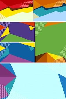 Abstracte achtergrondontwerpen met kleurrijke vormen