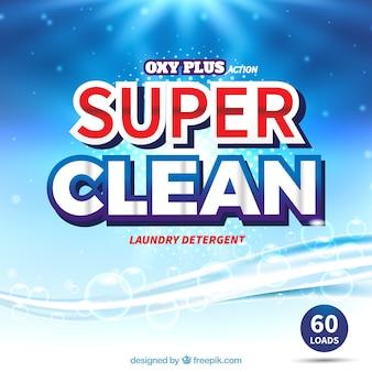 Abstracte blauwe achtergrond van detergent