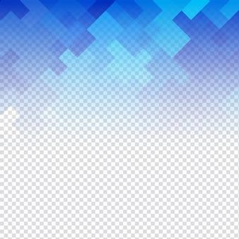 Abstracte blauwe mozaïek transparante achtergrond