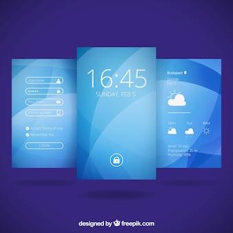 Abstracte blauwe wallpapers voor mobiel