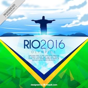 Abstracte brazil achtergrond van de Olympische Spelen
