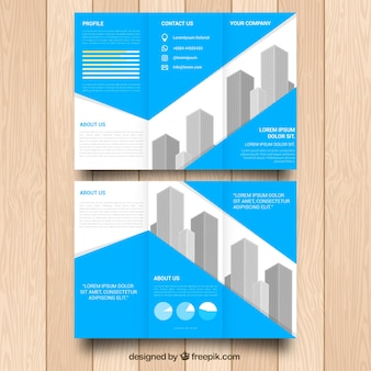Abstracte business trifold