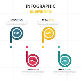 Abstracte cirkel bedrijf infographic sjabloon kleurrijke C