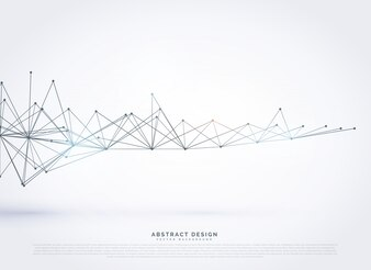 Abstracte digitale wireframe maas vector achtergrond