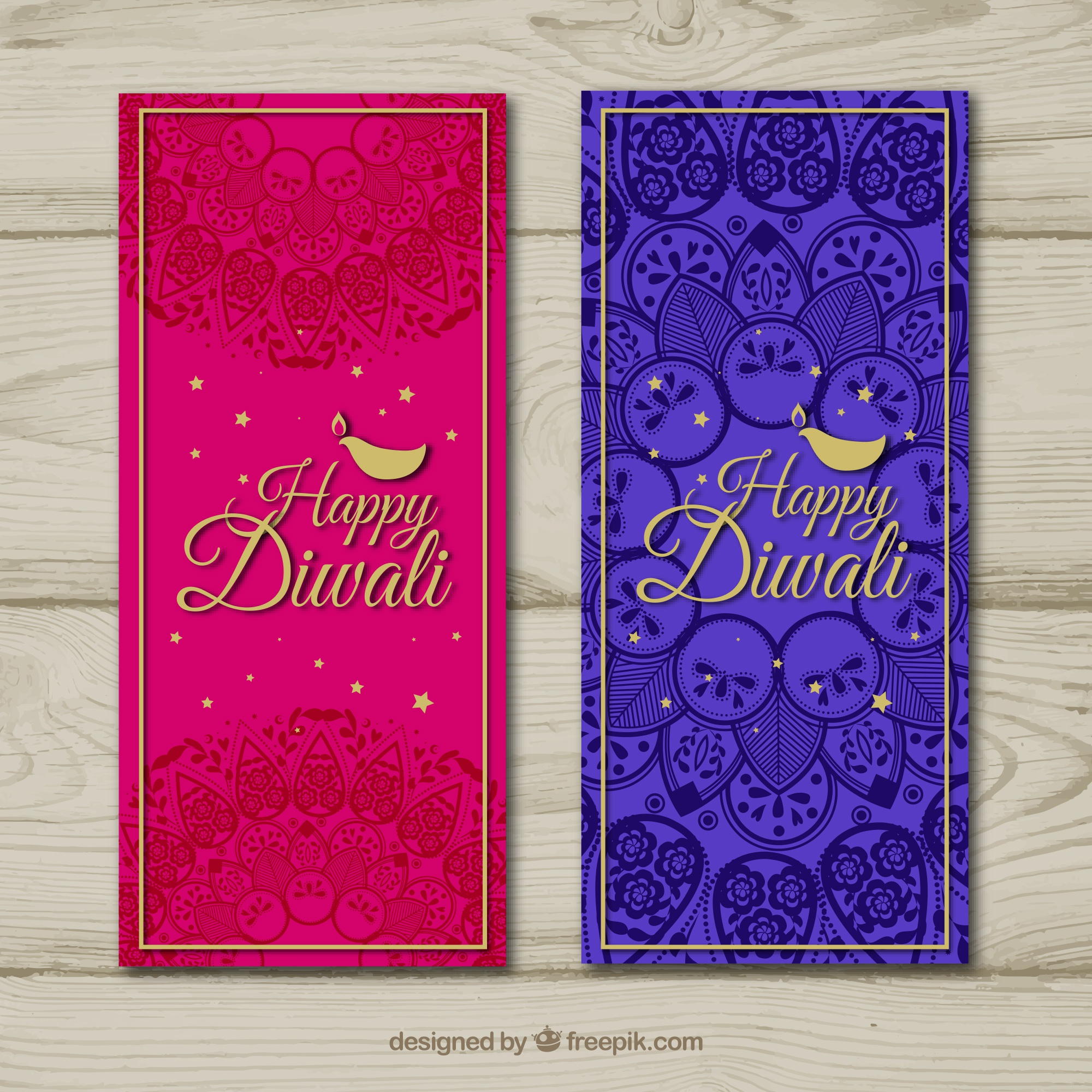 Abstracte diwali banners