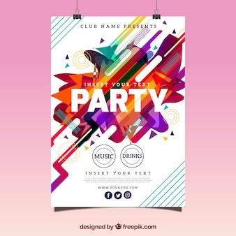 Abstracte feest poster met leuke stijl