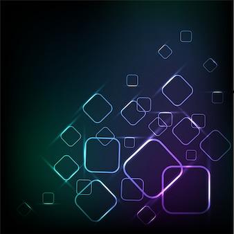 Abstracte geometrische achtergrond met glanzende vierkantjes.