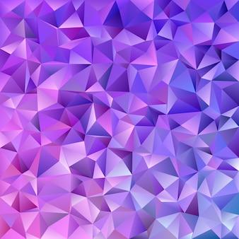 Abstracte geometrische driehoek tegel mozaïek achtergrond - vector grafisch uit driehoeken in paarse tinten