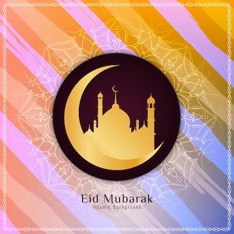 Abstracte kleurrijke Eid Mubarak achtergrond
