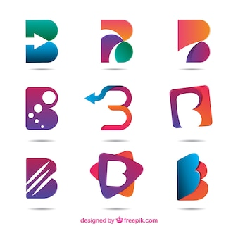 Abstracte letter b logo collecti