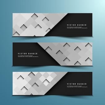 Abstracte moderne banner design set