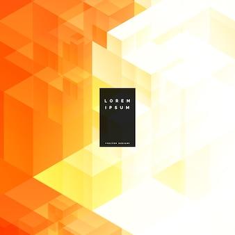 Abstracte oranje driehoek geometrische achtergrondontwerp