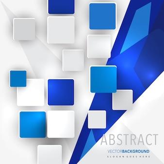 Abstracte overlappende vierkante achtergrond