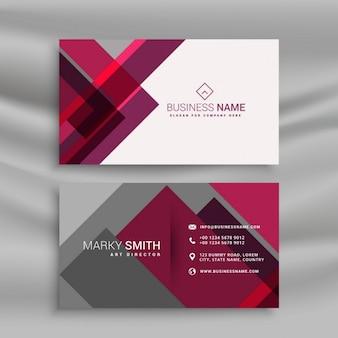 Abstracte roze en grijs visitekaartje ontwerp