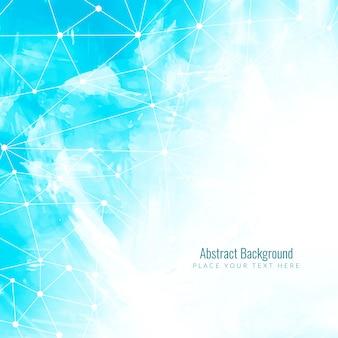 Abstracte technologische achtergrond met blauwe aquarel