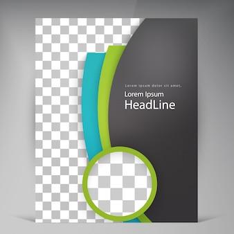 Abstracte vector moderne flyers brochure.