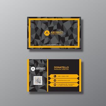 Abstracte visitekaartje ontwerp