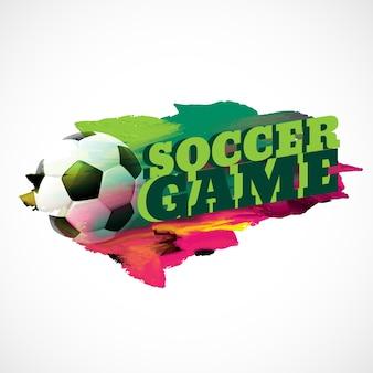 Abstracte voetbal achtergrond met verf effect