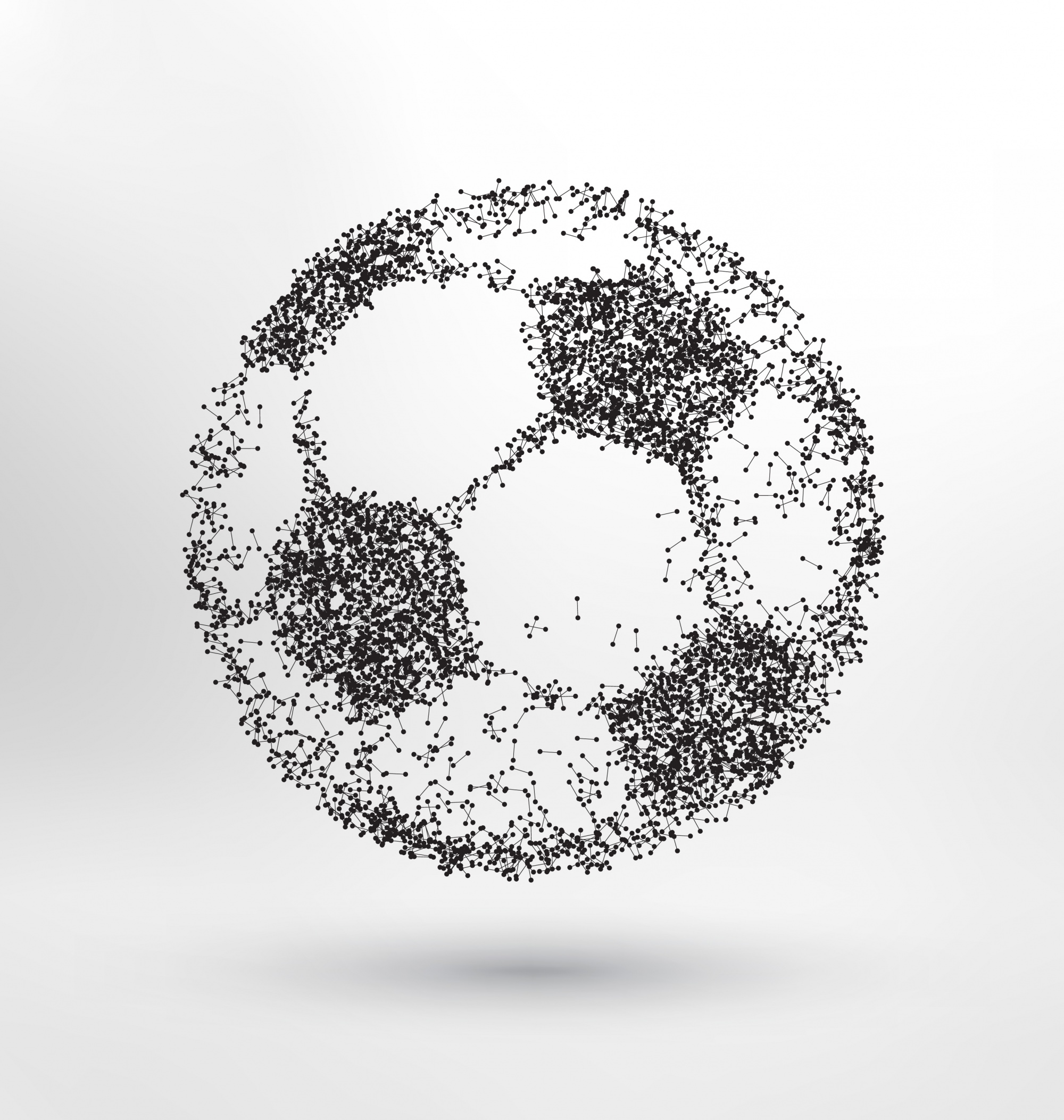 Abstracte voetbal