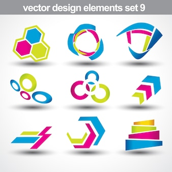 Abstracte vorm vector set 9