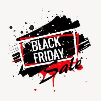 Abstracte zwarte vrijdag verkoop poster