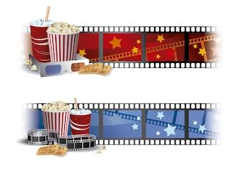 Achtergrond bioscoop ontwerp
