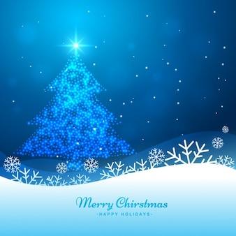 Achtergrond met glanzende kerstboom