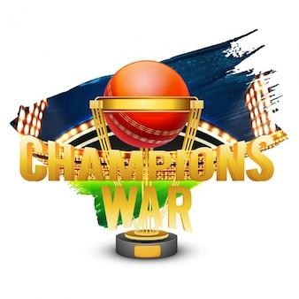 Achtergrond van cricket kampioenschap league met trofee