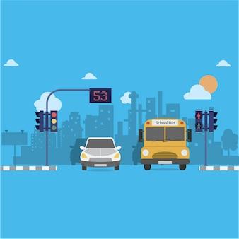 Achtergrond van de stad ontwerp