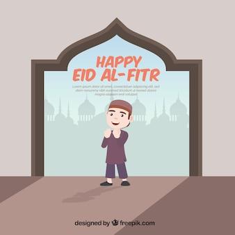 Achtergrond van gelukkige eid al-fitr