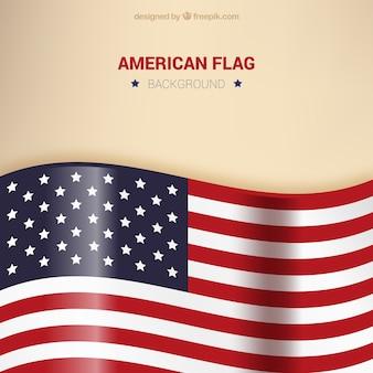 Achtergrond van glanzende verenigde staten vlag