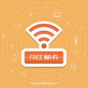 Achtergrond van gratis wifi en andere elementen