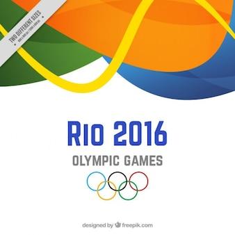 Achtergrond van Rio 2016 met abstracte vormen