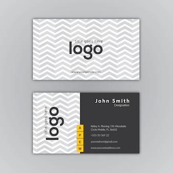Adreskaartje grijs ontwerp