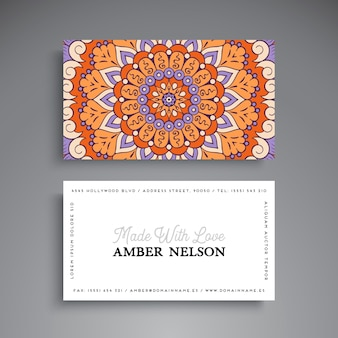 Adreskaartje Vintage decoratieve elementen Ornamentale bloemen visitekaartjes Oosters patroon vectorillustratie