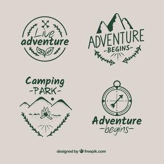 Adventure etiketten collectie