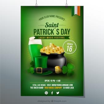 Affiche voor St Patrick partij