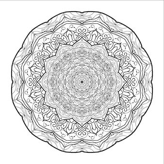 Afgeronde mandala met een witte achtergrond
