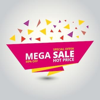 Alleen Mega Sale banner Grote superverkoop