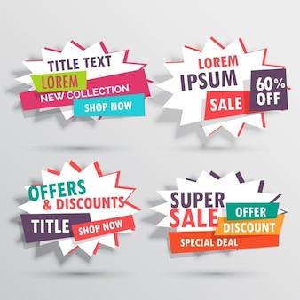 Amazing verkoop banners collectie met de details