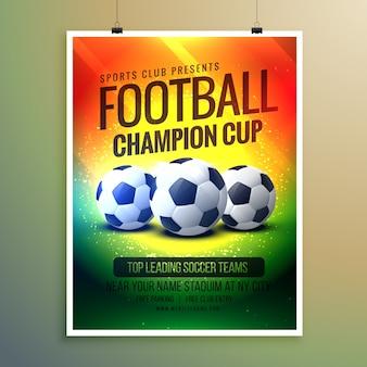 Amazing voetbal achtergrond voor event flyer en uitnodiging