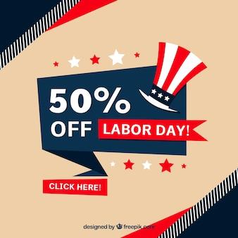 Amerikaanse achtergrond van verkoop arbeidsdag