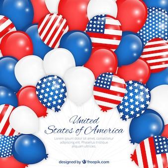 Amerikaanse ballonnen achtergrond