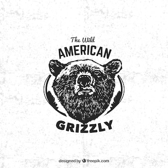 Amerikaanse grizzly badge