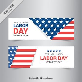 Amerikaanse vlag naar wens een gelukkige dag van de arbeid