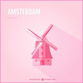 Amsterdam vector gratis te downloaden