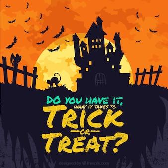 Angstaanjagende Halloween achtergrond